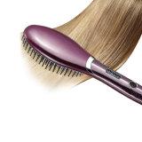 中国語は熱い販売毛をまっすぐにするための電気LEDの毛のストレートナのブラシを供給する
