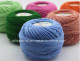 Filo di cotone organico di lavoro a maglia tinto Worsted del merletto del Crochet del tessuto di alta qualità