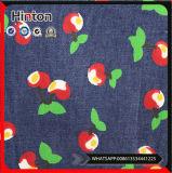 Tessuto del denim della stampa di cotone del reticolo dei lotti per la signora Garment