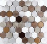 El vidrio de piedra de aluminio de Matel del azulejo de los azulejos de mosaico embaldosa los azulejos Acshnb4001 de la pared del mosaico del cuarto de baño de Backsplash de la cocina de la decoración