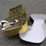 Коробка подарка упаковки формы рыб упаковывая бумажная