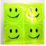 Het Glimlachen van pvc de Weerspiegelende Veiligheid van Gezichten paste Weerspiegelende Sticker aan