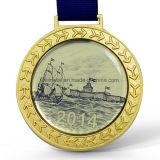Personalizar el logotipo de la impresión de desafío de aleación de zinc de la medalla de deporte