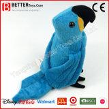 현실적 채워진 새 견면 벨벳 Macaw 장난감
