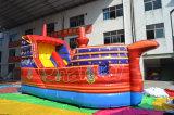 Скольжение супер холодного корабля Buccaneer красного цвета раздувное для малышей