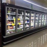 Supermercado Comercial Bebidas verticais Refrigerador de porta de vidro