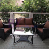 Jardim ao ar livre do pátio do Rattan de Morden que janta a mobília
