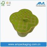 Luxuxgoldblumen-Form-rundes Kasten-Gefäß-verpackenkästen für Schönheit