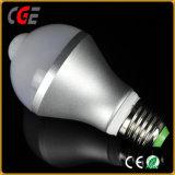 Sensor de infrarrojos caliente Sensor PIR bombilla LED Bombilla mejor precio bombillas LED E27/B22 AC85V-265V