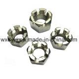 Écrou six-pans encoché de l'acier inoxydable 304 DIN 935