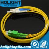 De Kabel Sca van het Flard van de vezel aan FC Duplex Gele Sm