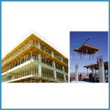 平板の構築のための材木のビームが付いている表の型枠