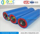 Rodillos Azules del Transportador de las Ruedas Locas del Transportador del HDPE del Sistema de Transportador del Diámetro de 133mm