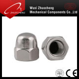 고품질 스테인리스 304 316 M6 육각형 돔 모자 견과 DIN1587