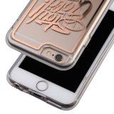 Письмо напечатанное на ясной прозрачной гибридной крышке крепко + мягко кожа крышки TPU Bumper для iPhone 6s