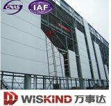 Edificio enmarcado de la estructura de acero, construcción prefabricada del braguero del acero estructural con el gráfico