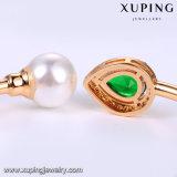51731 braccialetto aperto della perla placcato oro di modo 18k CZ con il disegno della rottura dell'occhio