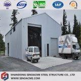 Almacén prefabricado respetuoso del medio ambiente de la estructura de acero con el certificado de la ISO