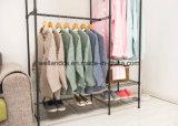 Het goedkope Rek van het Kledingstuk van de Garderobe van het Metaal van het Canvas voor de Opslag van de Kleren van de Slaapkamer