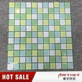 Precio de cerámica esmaltado azul barato popular de los azulejos de mosaico en la India