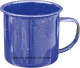 구른 변죽 가장자리를 가진 색깔 사기질 컵