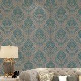Papel pintado clásico del estilo del damasco del diseño grande italiano de la flor para la sala de estar