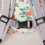 Wasserdichte Belüftung-Segeltuch-Blumenmuster-weißer Rucksack (23262)