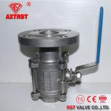 linha 3PC/válvula de esfera flangeada do aço inoxidável