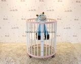 Baby Furntiure Crianças Mobiliário Madeira Banheiro Convertible De Metal Berço Convertible Berço Redondo