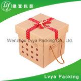 Rectángulo de papel cosmético impreso aduana barata para el embalaje del regalo