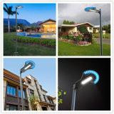 O poder superior integra a iluminação ao ar livre da lâmpada solar solar do jardim da rua da luz da paisagem com Pólo
