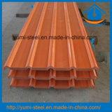 Folhas de metal de aço onduladas dos revestimentos do telhado/parede da cor do material de construção