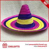 Chapeaux de paille mexicains de plaine promotionnelle de bande pour le cadeau