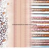 Serie Pigment&Disperse des Leopard-100%Polyester druckte Gewebe für Bettwäsche-Set