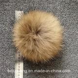 Gilrs를 위한 POM 모피 공에 의하여 뜨개질을 하는 모자
