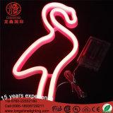 Lampe au néon de lumière de nuit de flamant de tenture actionnée par USB