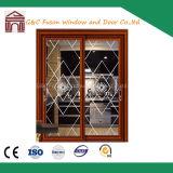 Входные двери лучшее качество алюминиевые раздвижные двери (FX-15062)