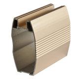 Perfil de alumínio dourado para material de gabinete