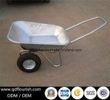 Carrinho de mão de roda dois do Wheelbarrow do mercado de Wb6211 Rússia rodado