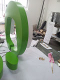 Настраиваемый логотип рамы зеленой краски из нержавеющей стали с подсветкой LED письмо признаки