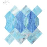 Het hoge Mozaïek van de Tegel van het Gebrandschilderd glas van de Ambacht Blauwe voor de Decoratie van het Huis