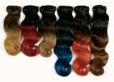 100% Реми индийского человеческого волоса добавочный номер T Цветной DIP-Color