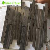 Мозаика черноты Wood-Grain плитки мозаики прокладок высокого качества случайно