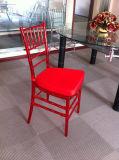 PC de resina de color rojo claro silla Chiavari