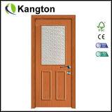 Porte en bois économique de PVC de modèle intérieur (porte en bois de PVC)