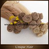 Trames de cheveu attachées par main de la meilleure qualité de Remy de qualité