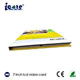 Hardcover cartões video do cartão do LCD do cartão de Buiness do cartão video do LCD de 7 polegadas/os video