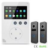 Seguridad casera de la manera de la memoria 4.3 pulgadas del Interphone de la puerta del teléfono de sistema de intercomunicación video