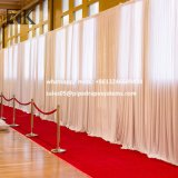 Tuyau de peuplements de toile de fond et le drapé rideaux arrière-plan de fleurs de mariage