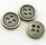 Botón aprobado del metal de los orificios de la ropa 4 de la prueba de la alta calidad